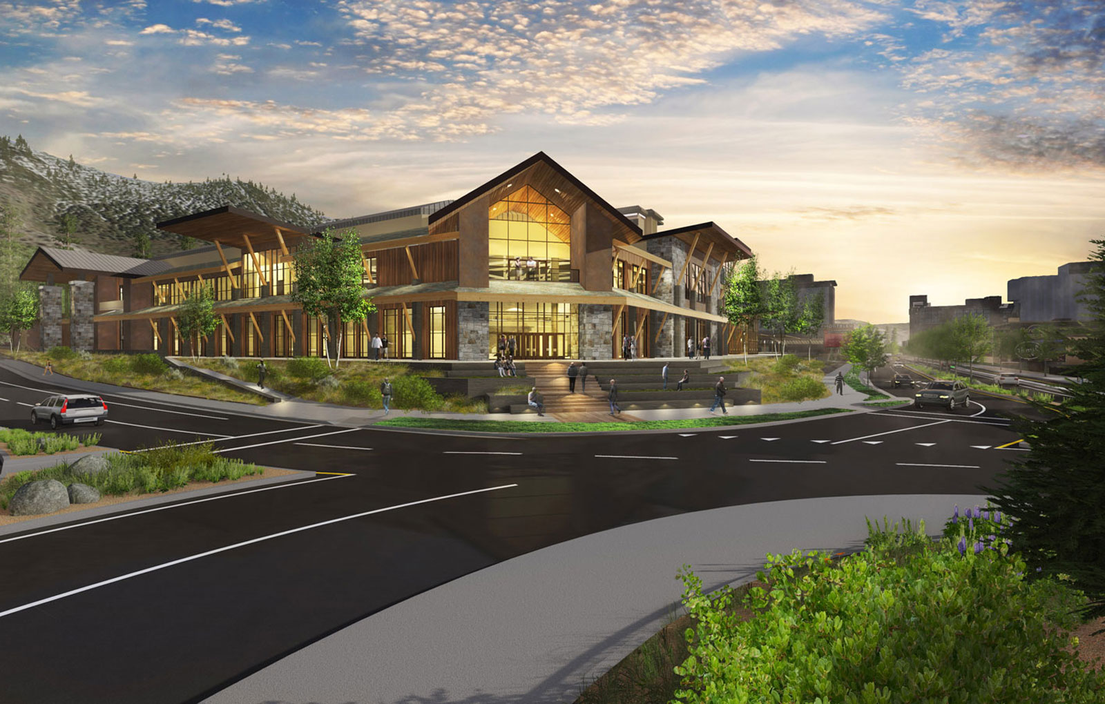 tahoe south event center architectural rendering