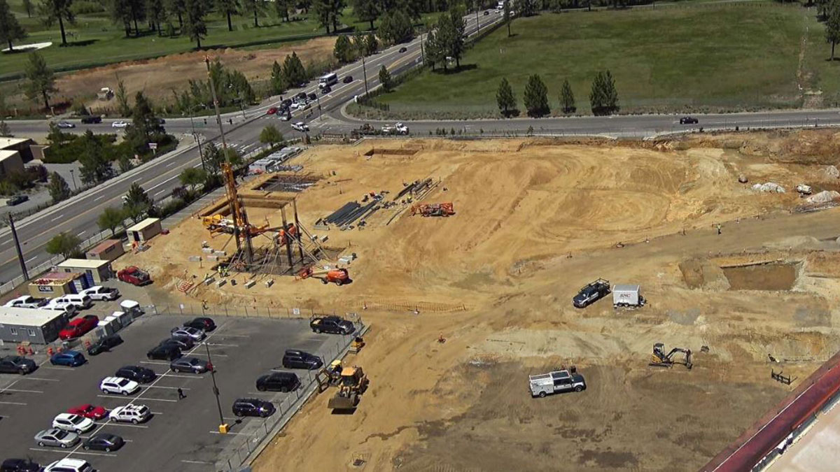 Excavation on Tahoe South Events Center Site